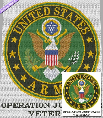 US Army - Operation Just Cause Crochet Pattern